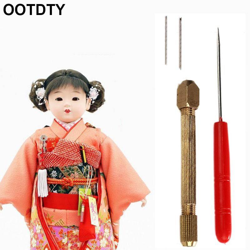 1set DIY Doll Hair Toll Set 0.6/0.8mm Doll Hair Rooting Reroot Rehair Tool Holder Reproduce Hair Doll Tool