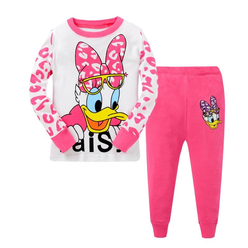 Europe And America Origional Pure Cotton Children Tracksuit Long Sleeve Cartoon Men And Women Children Pajamas 2 T-7 T Cross Bor
