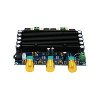 New Version High power Amplifiers Dual Chip TPA3116D2 150W x 2 Digital Amplifier Board 12 24V Dual Channel Stereo drop ship|Amplifier|   -