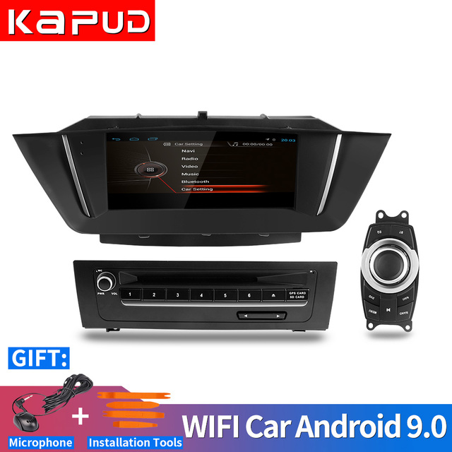 $ US $226.21 Kapud 9'' Android 9.0 4Core ROM 32G car Radio GPS navigation,for BMW X1 E84 2015-2012,Bluetooth,USB SD Stereo Radio,SWC,idrive