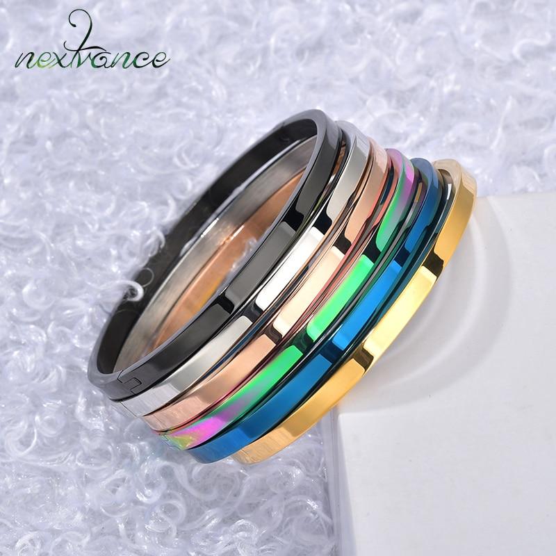Nextvance Stainless Steel Inspirational Customized Cuff Bracelet Bangle Gold Engraved  Bracelets Women Men Personalized Gift|Customized Bracelets|   - AliExpress