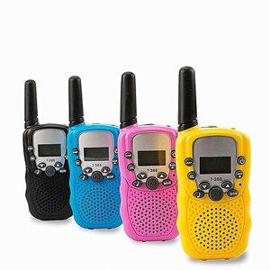 2 Pcs/Set Children Toys 22 Channel Walkie Talkies Toy Two Way Radio UHF Long Range Handheld Transceiver Kids Gift