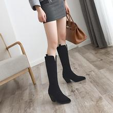 YANSHENGXIN Shoes Woman Boots V-Notch Genuine Fur High Heel Women Boots Autumn Winter Boots Pointed Toe Shoes Ladies Booties цена