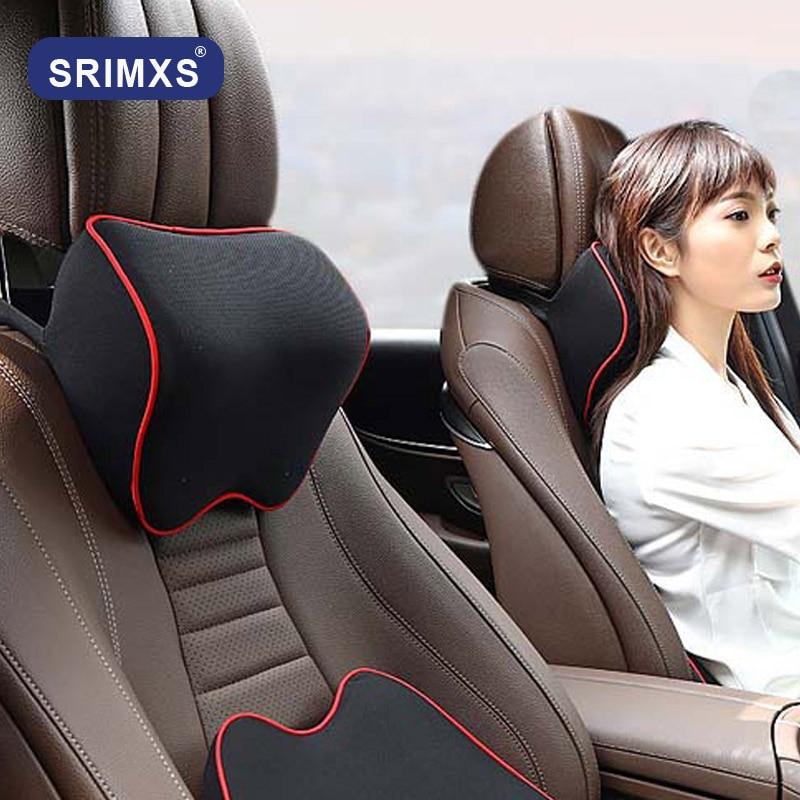 Samochód szyi poduszka zagłówka poduszka fotel samochodowy zagłówek Protector siedzenia samochodowe reszta pamięć bawełna pod szyją w samochodzie