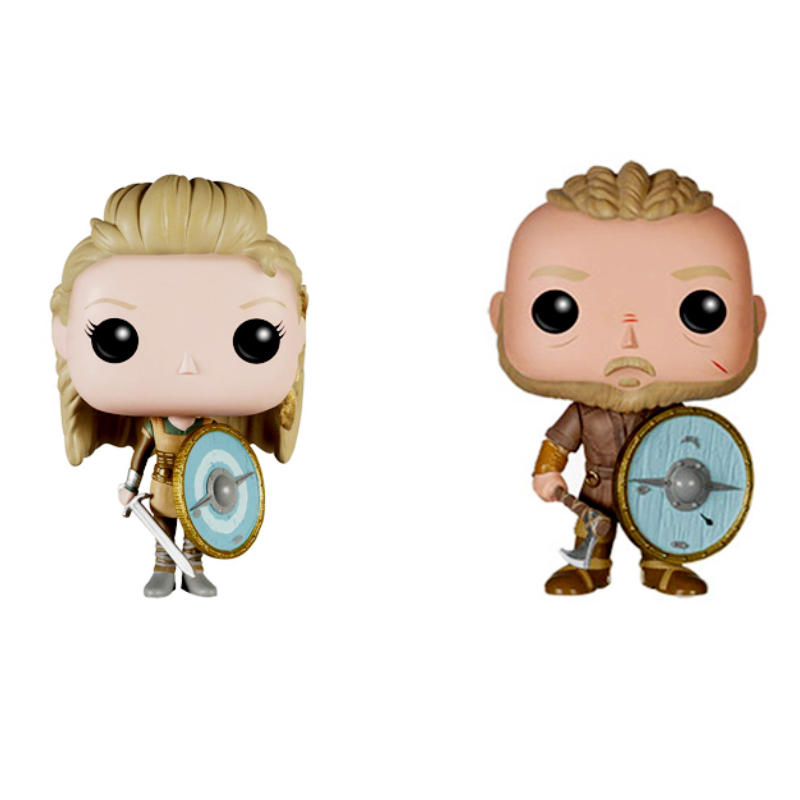 Funko Pop Vikings 178# LAGERTHA 177# RAGNAR LOTHBROK Vinyl Action Figure Vikingos Decoracion Collection Figure Kids Toys 2F15