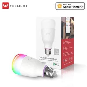 Image 1 - Yeelight 110V 220V E27 RGB LED Bulb Lights 6W 10W RGB Lampada Changeable Colorful RGBW LED Lamp APP Remote Control