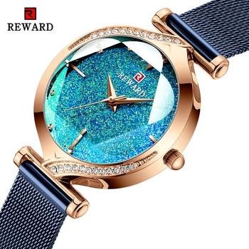 REWARD Fashion New Women Watches Top Luxury Brand Womens Quartz Watch Stainless Steel Waterproof Ladies Bracelet Wristwatch