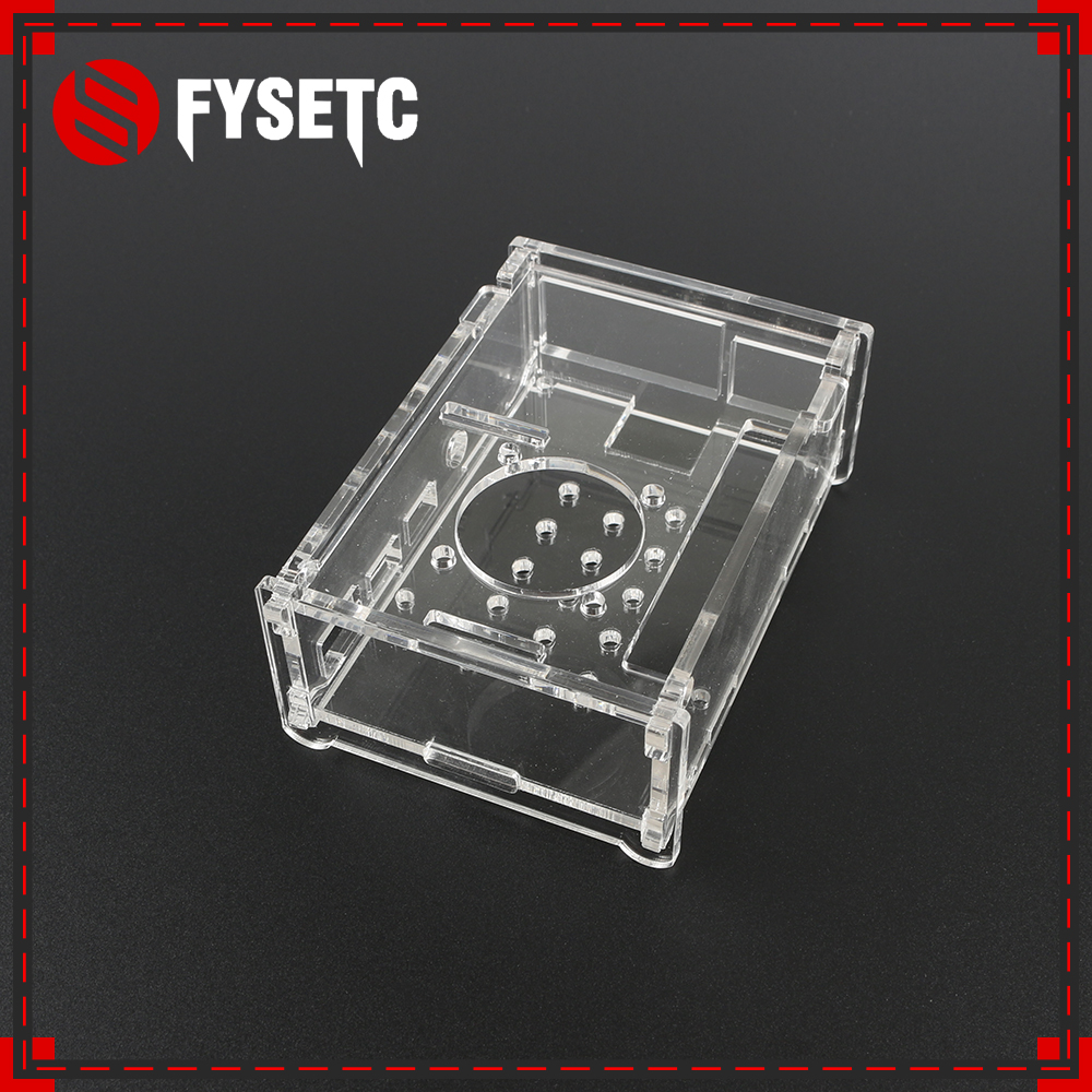 Acrylic Case For Raspberry Pi 4 Model B Transparent Case Compatible Cooling Fan & 3.5 Inch LCD For Raspberry Pi 4