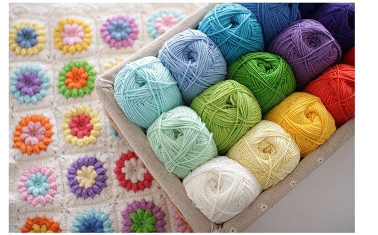 100 Meters Hand Knitted Milk Cotton Wool Pure Cotton Baby Wool Hat Scarf Thread Cushion Thread Medium Thick Thread