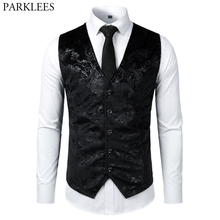 Steampunk Victorian Gothic Mens Cosplay Costume Vest Jacket Waistcoat