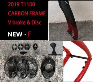 2019 T1100 carbone route cadre 3k 1K cadre de bicyclette carbone disque à travers essieu route cadre bicicleta carbone vélo cadre bici velo