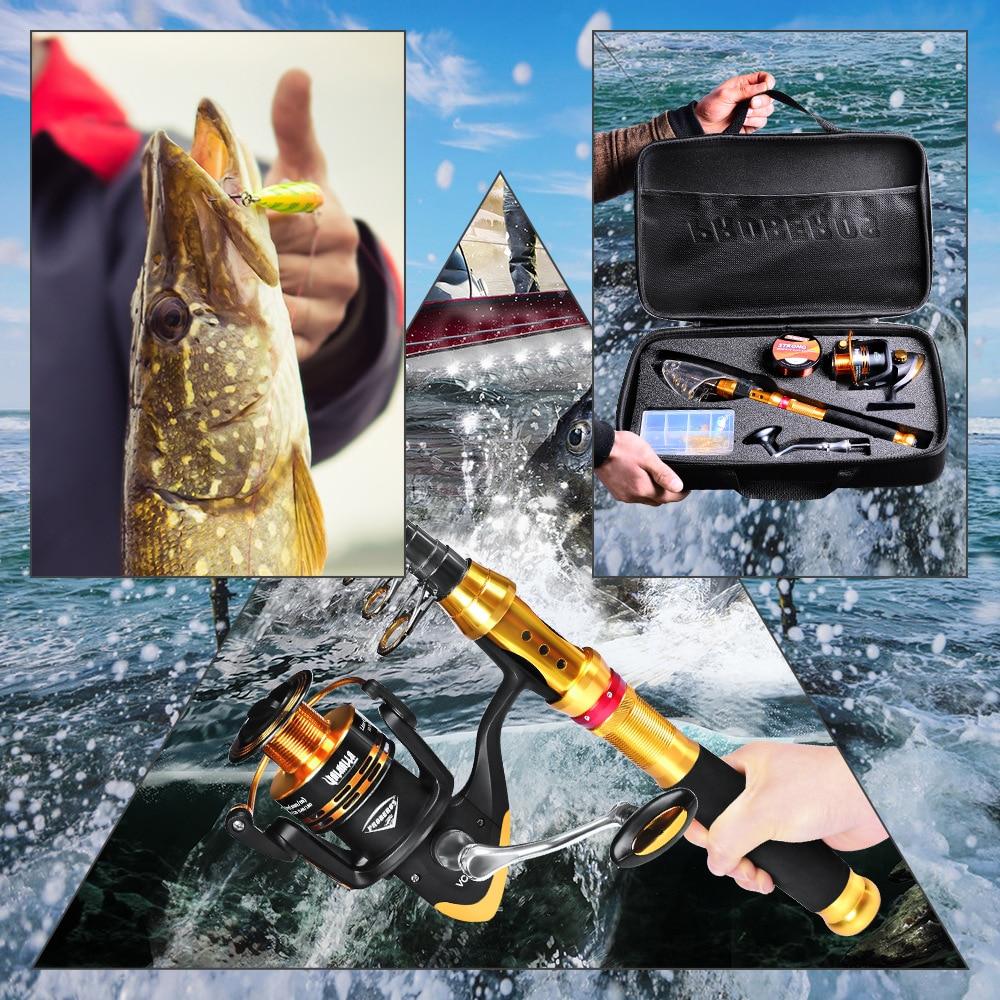 spinning engrenagem pesca organizador pólo conjuntos com