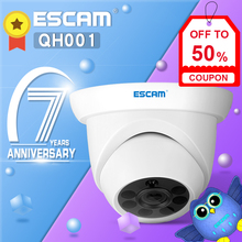 ESCAM QH001 1080P HD Dome IP Camera Home Surveillance Security Camera Night Vision Motion Detection H.265 ONVIF цена 2017