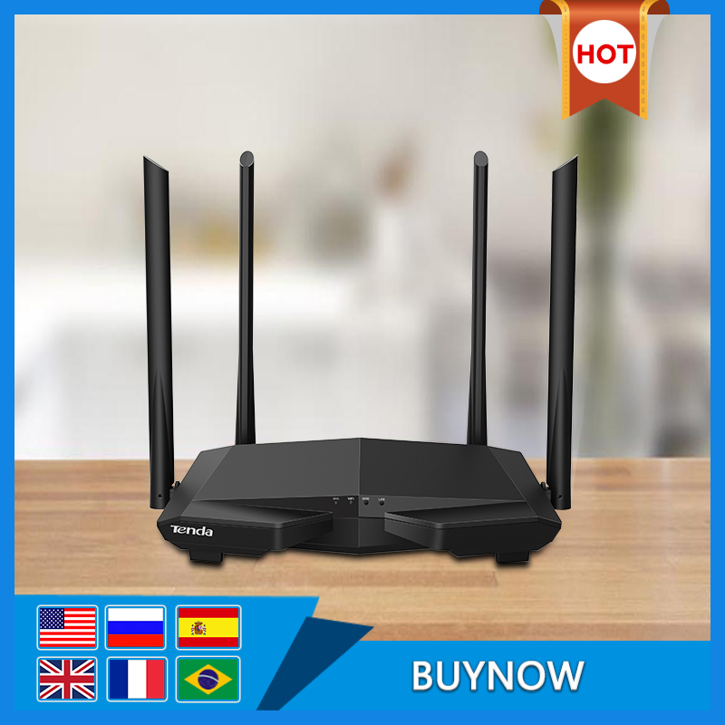 <font><b>Tenda</b></font> AC6 V4.0 Dual Band Wireless WiFi Router AC1200M 2.4G/5.0GHz Wi-Fi Repeater, APP Remote Manage,Easy set up image