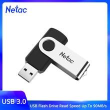 Netac-unidad Flash USB para ordenador portátil, tarjeta de memoria Flash de 128GB, 32GB, 64GB, 16gb, 256gb, USB 3,0, 128GB