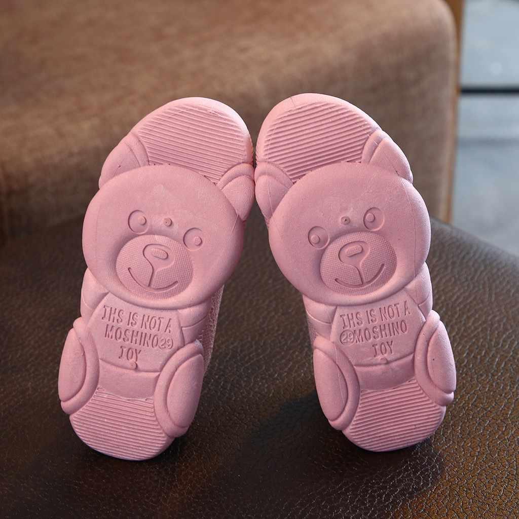 Los niños bebé niñas sólido de malla elástica deporte correr zapatillas de deporte Zapatos de niños en los niños zapatillas de deporte sapato infantil