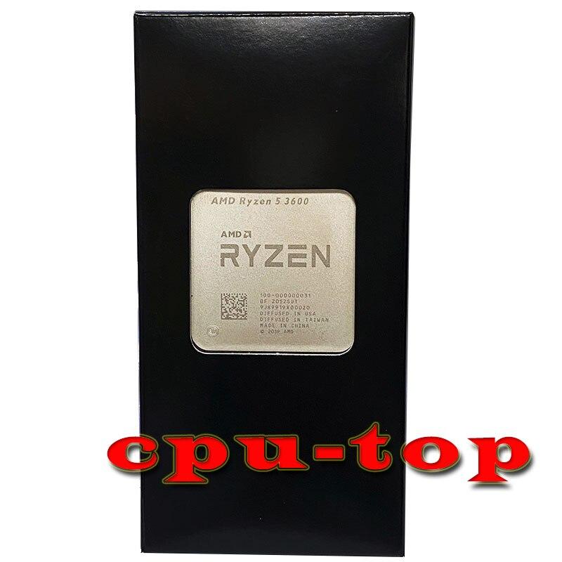 Процессор AMD Ryzen 5 3600 R5 3600 3,6 ГГц шестиядерный двенадцатипоточный процессор 7 нм 65 Вт L3 = 32M 100-000000031 разъем AM4 без вентилятора