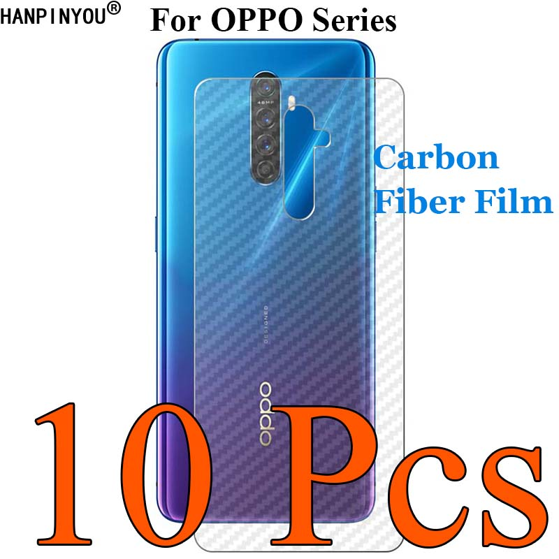 10 Pcs For OPPO Reno Realme 3 2 Z A 10x Zoom F11 K5 K3 K1 A1K A9 A5 2020 3D Carbon Fiber Back Film Skin Screen Protector Sticker image