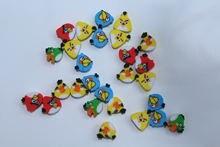 100 шт Мини Детские Учебные принадлежности «angry bird» ластик
