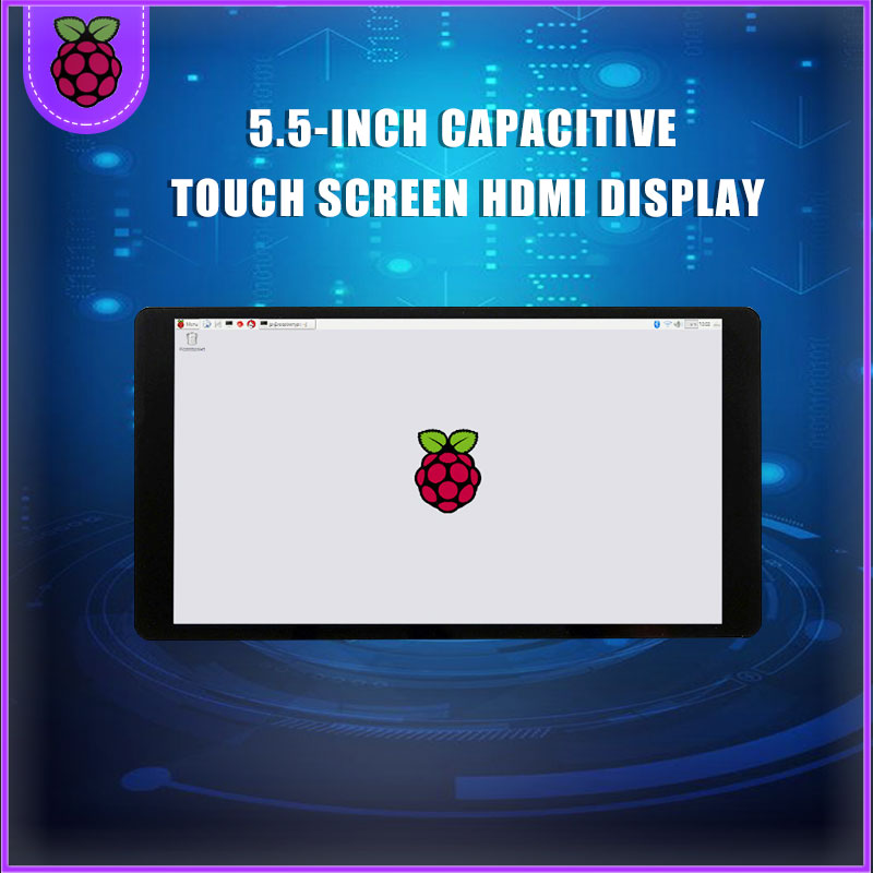 NEW 5.5 Inch AMOLED HDMI Display Capacitive Touch Screen Module With Tempered Glass Support For NVIDIA For Nano For Raspberry Pi