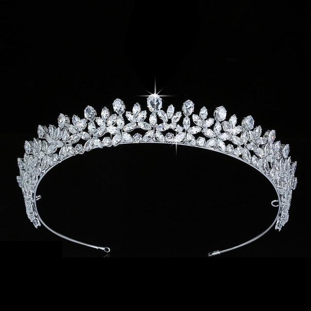 ティアラと王冠 hadiyana エレガンテ結婚式髪 accessoriess ファッションのヘアクリップ立方ジルコン BC5511 コロナプリンセサ