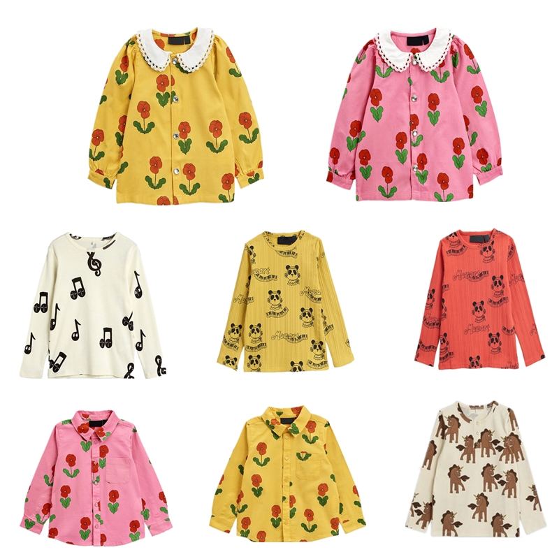 2021 Mini Brand Fashion Kids Baby Cotton T-shirt Tops Boys Girls Note Tee t shirts Children Blouse Toddlers Baby Clothing 1