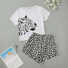Heflashor pijamas linda casa ternos sexy impressão pijamas de manga curta conjunto 2021 feminino pijamas comfortablegirl verão