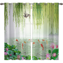 Willow Tulle Curtains For Living Room Blackout Window Bedroom Voile Sheer Curtain Kitchen Home Decor