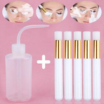 Przedłużanie rzęs przedłużanie rzęs aplikator czyszczenie rzęs butelka do mycia brwi Remover pielęgnacja skóry przybory do makijażu pędzel do brwi tanie i dobre opinie COMBO Wydłużanie rzęs CN (pochodzenie) Inne 1 cm-1 5 cm Eyelash Cleaning Brush Pełny pasek rzęs Naturalnie długie