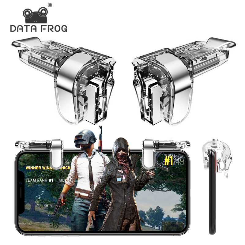 DATA FROG Phone Mobile Gaming Trigger For PUBG Mobile Gamepad Free Fire Joysticks Shooting Game L1R1 Key For PUGB Controller