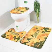 Halloween Pumpkin Series Toilet Floor Mat Exquisite Print Three-Piece Toilet Mat L0829 tower pinted three piece toilet mat set