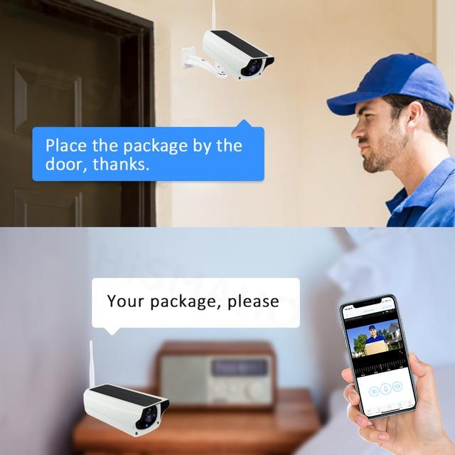 WIFI Wireless Solar Camera 1080P Metal Shell Outdoor Security Surveillance CCTV Bullet 2MP HD Battery IP Camera CamHi Pro APP 5