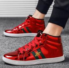 Mens High-top Canvas Shoes Men 2019 New Spring Autumn Top Fashion Sneakers Lace-up High Style Solid Colors Man Black Shoes KA853(China)