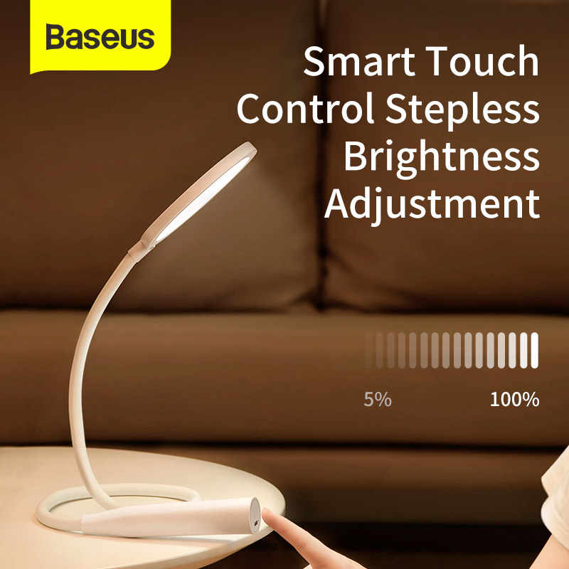 Baseus Study Table Lamp for Students Touch Control Desk Light Rechargeable Yeelight LED Tables Battery Powered Lamp for Studying|USB Gadgets| - AliExpress