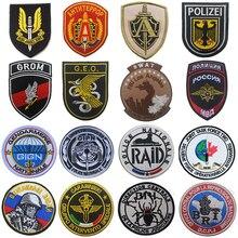 Британский немецкий франч русский итли Польша спецназ OPS спецназ нашивка армейский Военный Боевой Дух Тактическая Боевая эмблема нашивка значки