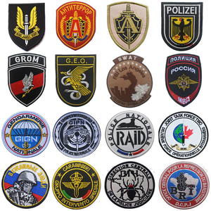 British German Franch Russian Itly Poland SPECIAL FORCE OPS SWAT Patch Army Military Morale Tactical Combat Emblem Patch Badges(China)