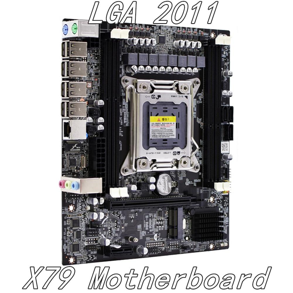 Carte mère LGA 2011X79 DDR3 32G mSATA double canal prend en charge la mémoire REG ECC pour Inter H61 puce LGA2011 pour I3 I5 I7 Xeon