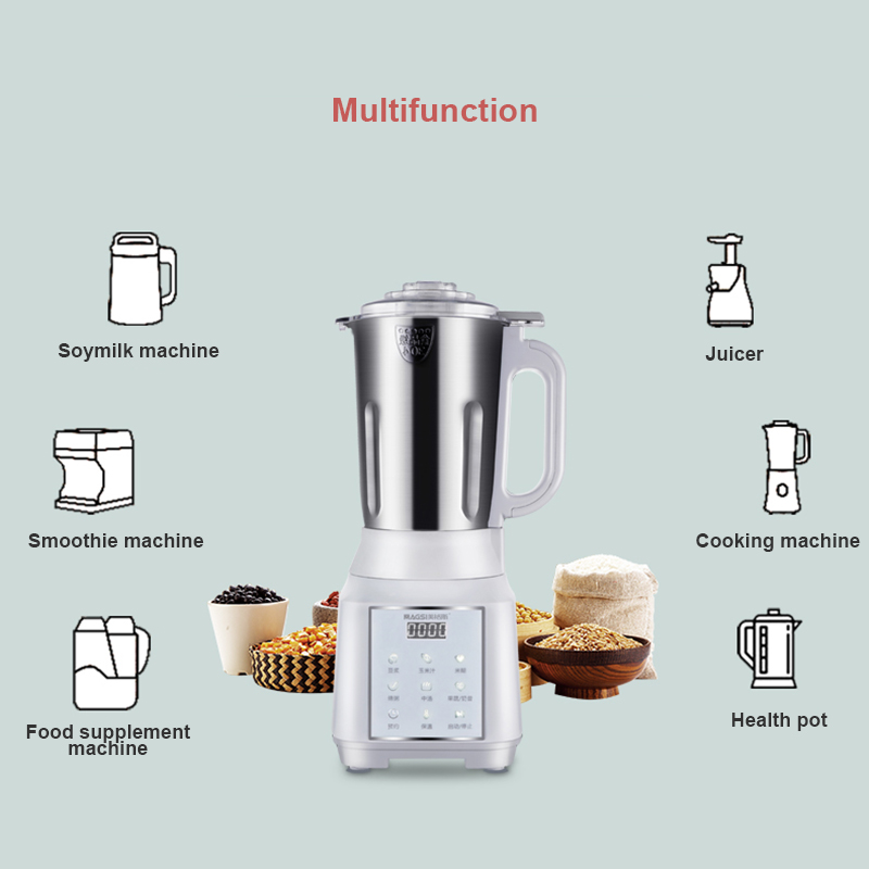 1000ML Small Soymilk Machine Fully Automatic Multi-functional Desktop Juicer Household Kitchen Cooking Cup Heating Filter-free
