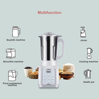 1000ML Small Soymilk Machine Fully Automatic Multi functional Desktop Juicer Household Kitchen Cooking Cup Heating Filter free