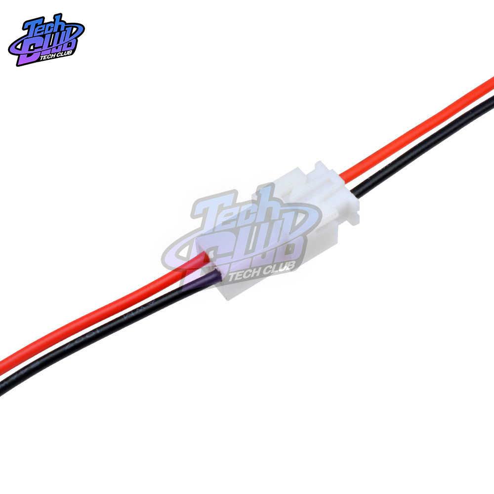 XH2.54 2 szpilki skok JST 2.54mm bateria przewód ładujący złącze XH wtyczka przewód męski na żeński złącze 10cm 20cm 30cm długość