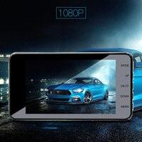Car DVR HD 1080P Dual Lens 4 Inches IPS Screen WDR Car Camera Dash Cam Video Recorder Night Vision