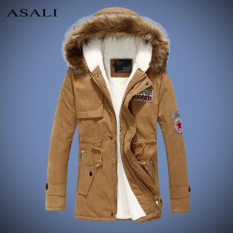 Fashion Men/'s Man Warm Jacket Fur Collar Thick Winter Hooded Coat Outwear Parka
