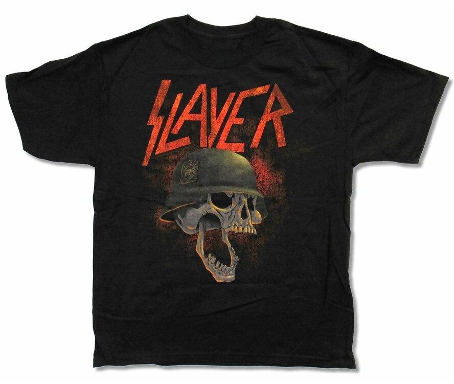 Slayer Helmet Black T Shirt New Official Thrash Metal Music Skull
