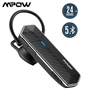 Mpow EM18 Business Wireless Headset Bluetooth 5.0 Single Ear Earphone with CVC8.0 Noise Reduction&24Hrs Playtime for Call Office