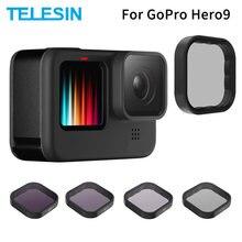 TELESIN ND8 ND16 ND32 CPL Objektiv Filter Set Aluminium Legierung Rahmen für GoPro Hero 9 Action Kamera ND CPL Objektiv accessoreis