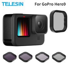 TELESIN ND8 ND16 ND32 CPL Lens Filter Set Aluminium Alloy Frame for GoPro Hero 9 Action Camera ND CPL Lens Accessoreis