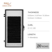 H & L desde 1990 20 filas pestañas individuales de visón falso pestañas maquillaje cilios para profesionales extensión DE Pestaña de visón suave