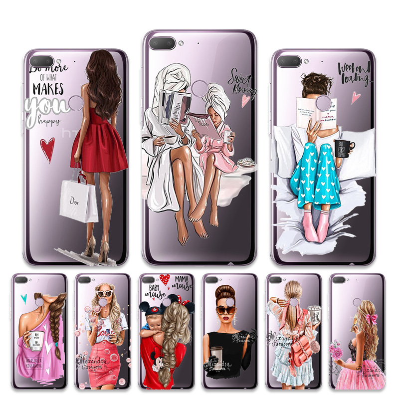 Transparent <font><b>Case</b></font> For HTC Desire 12 Plus 626 <font><b>Cases</b></font> Super Mom Baby Girl Etui For <font><b>Homtom</b></font> S8 S12 <font><b>S16</b></font> S9 Plus Silicone TPU <font><b>Cases</b></font> image