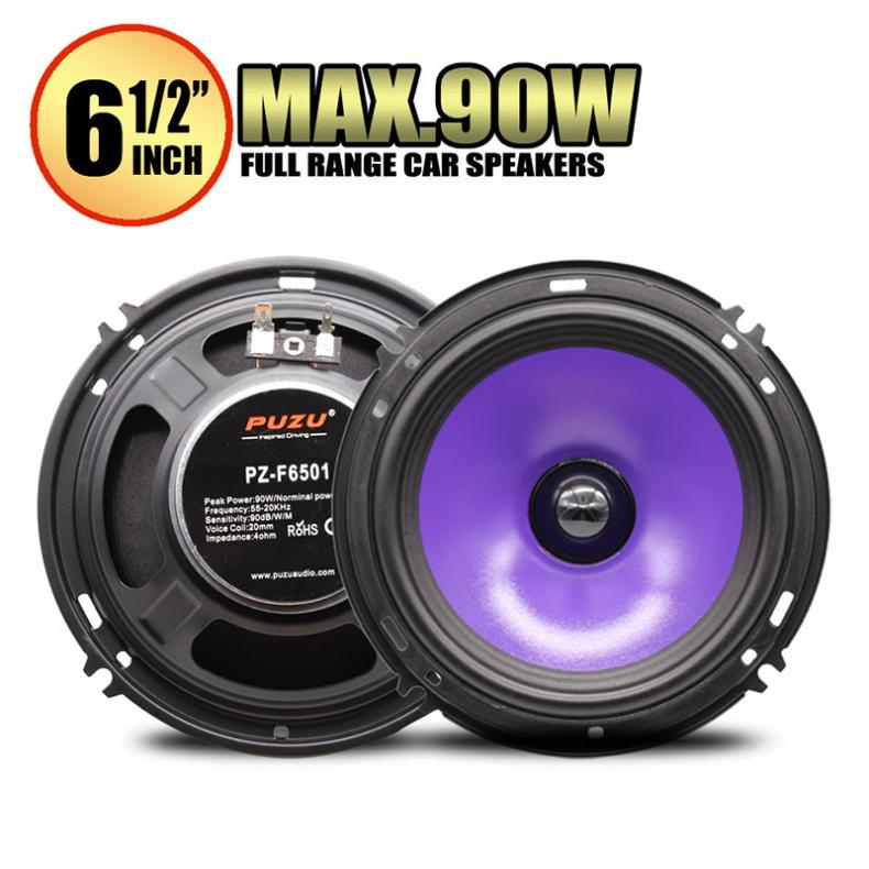 2pcs 6.5 Inch 90W Full Range Frequency <font><b>Car</b></font> <font><b>Audio</b></font> <font><b>Speaker</b></font> Mid-bass Ultra-thin Modified <font><b>Speaker</b></font> Non-destructive Installation image