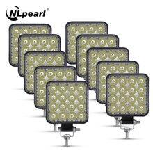 Nlpearl listwa świetlna Led 42W 48W Mini LED światło robocze reflektor 12V 24V terenowa listwa LED do Offroad Jeep Truck 4X4 4WD samochód SUV ATV